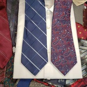 2 Tommy Hilfiger Blue Neckties